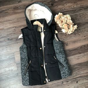 🧥[Ci Sono] Hooded Fluffy Puffer Vest